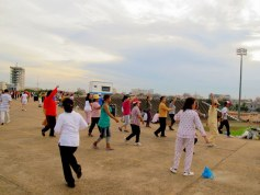 group aerobics at Olympic Stadium